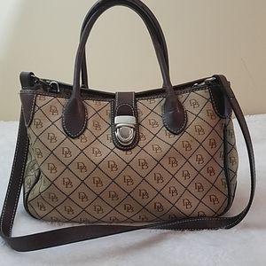 Dooney & Bourke Tan Canvas Buckle Handbag Purse